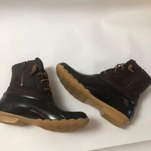 Sperry Top-Sider Rain Boot Brown 9M Duck Boot